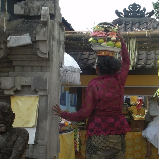 """Fruit offerings at festival Bali"" stock image"