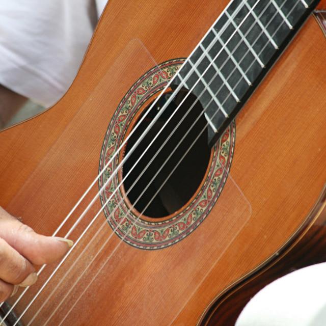 """""""Spanish Guitarist"""" stock image"""