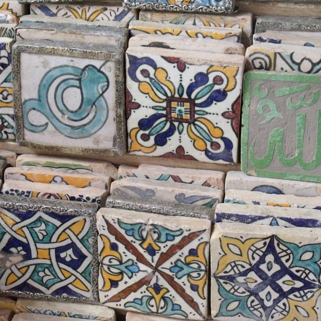 """Ceramic Tiles Marrakesh Souks"" stock image"