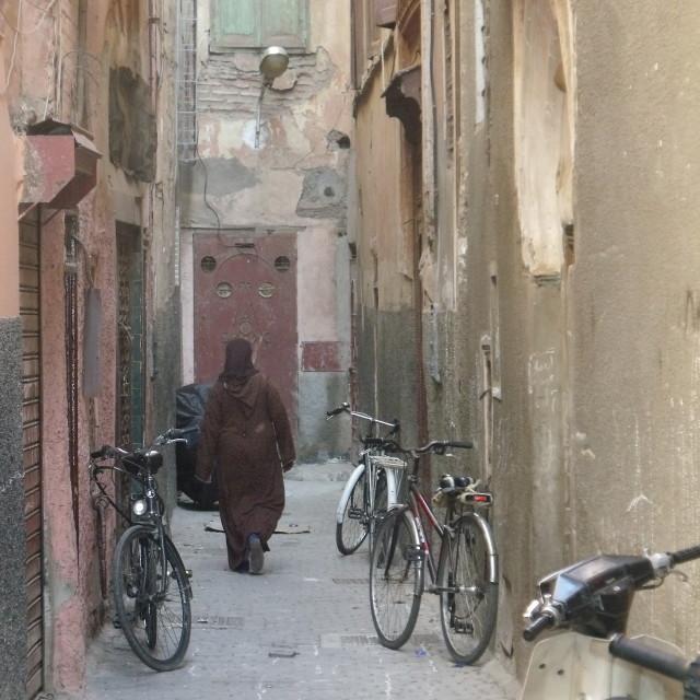 """Back Street Marrakesh"" stock image"