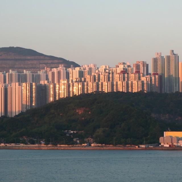 """Hong Kong skyscrapers"" stock image"