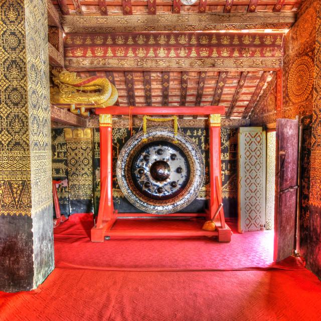 """Temple Interior, Luang Prabang Laos"" stock image"