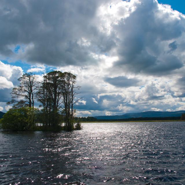 """Loch Mallachie, Highlands"" stock image"