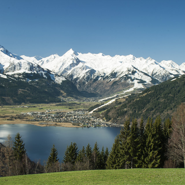 """View towards the Kitsteinhorn"" stock image"
