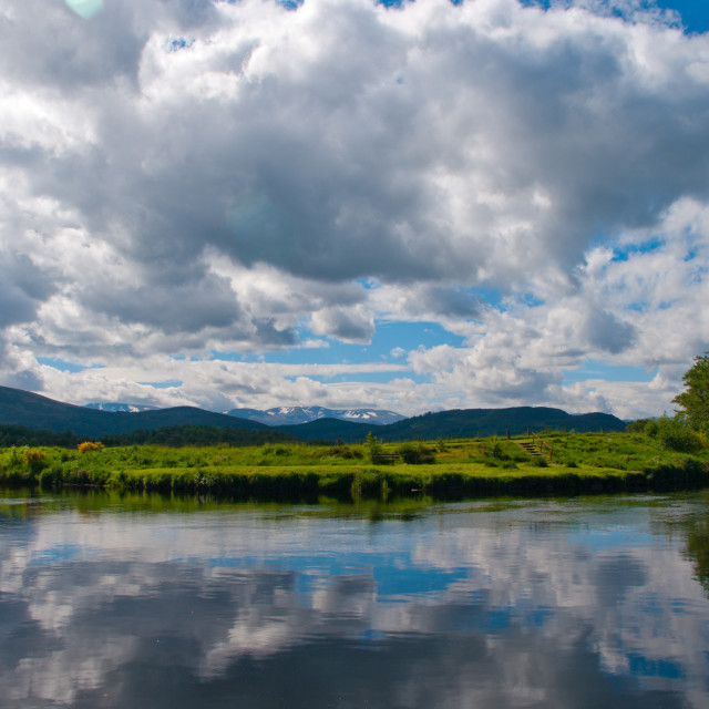 """View to Cairngorm"" stock image"