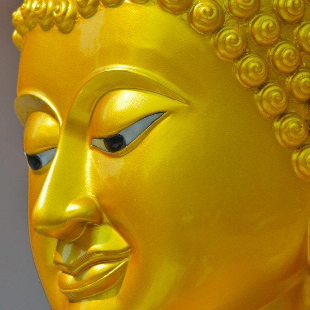 """Gilt Buddha Head in Thailand"" stock image"