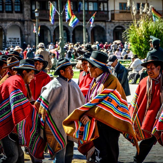 """""""Dancing Ponchos"""" stock image"""