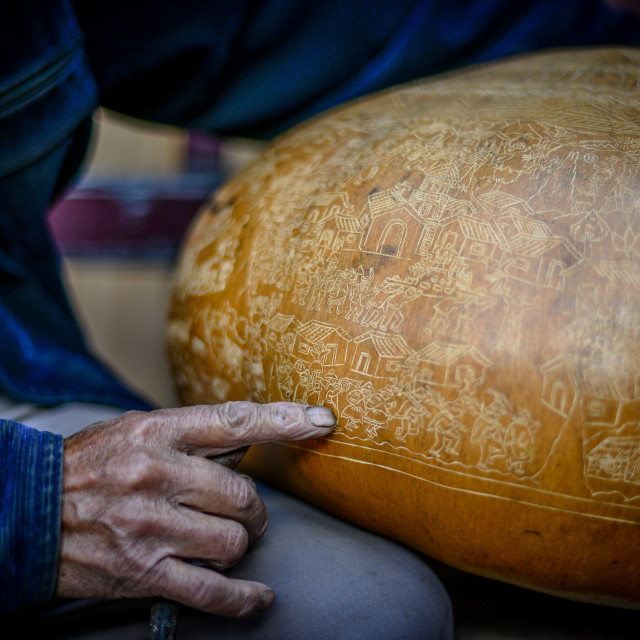 """Carved Gourd"" stock image"