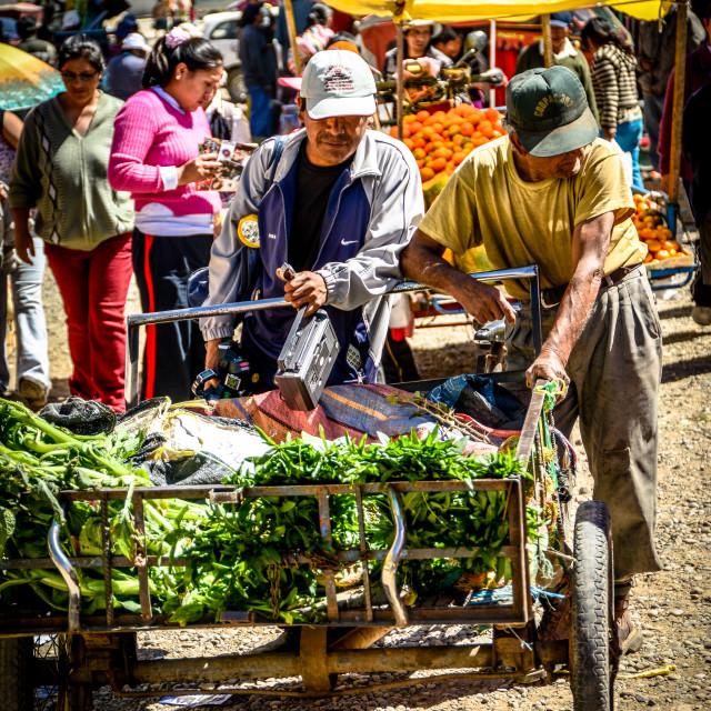 """Farmer's Market, Peru"" stock image"