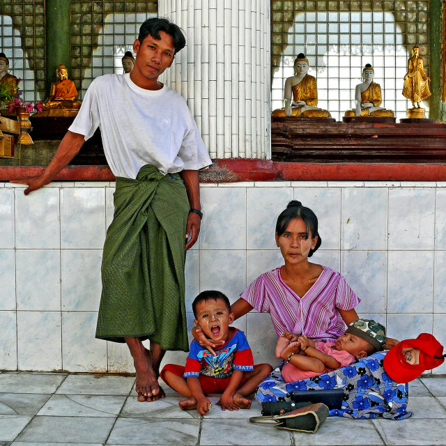 """YANGON FAMILY"" stock image"