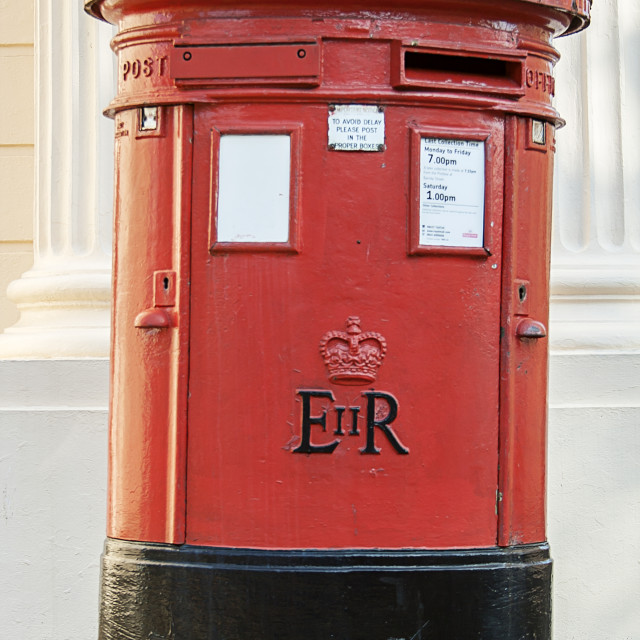 """Traditional British Post Box"" stock image"