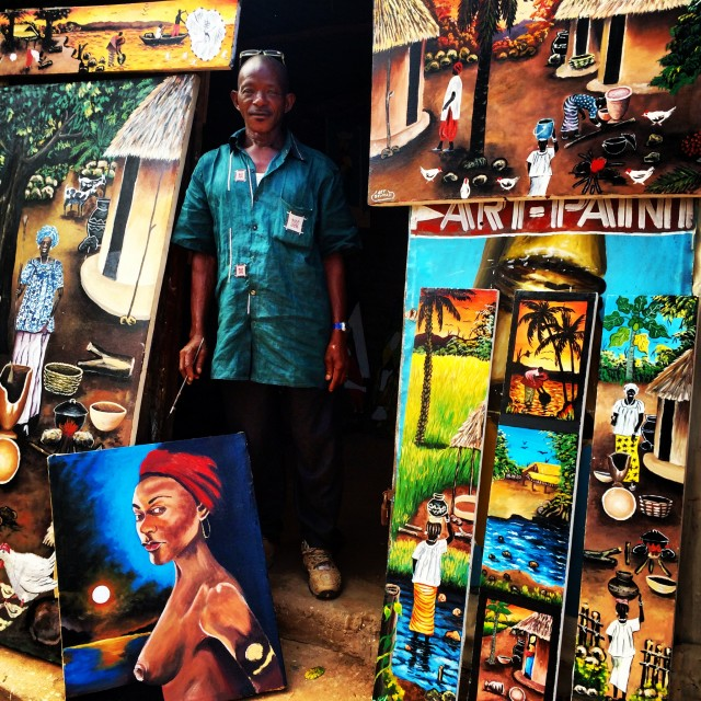 """Gambian artist"" stock image"