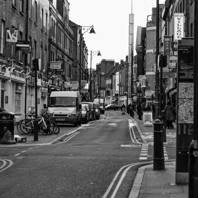 """Brick Lane"" stock image"