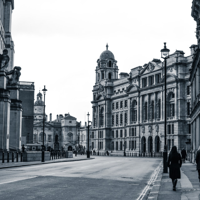 """Horse Guards Avenue, London"" stock image"