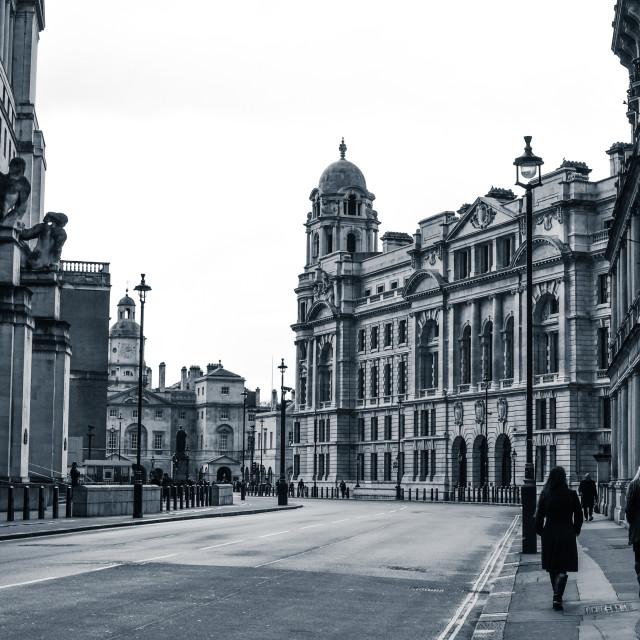 """Horse Guards Avenue, London"" stock image"