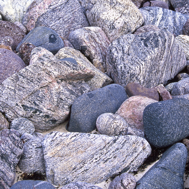 """Stones on the beach (1)"" stock image"