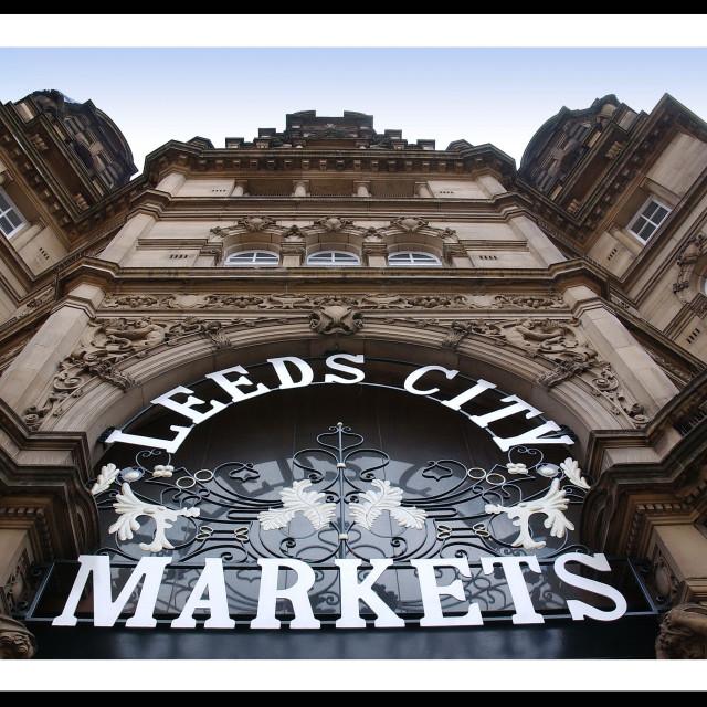 """Leeds City Market"" stock image"