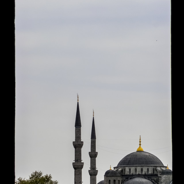 """Window to the Blue Mosque"" stock image"