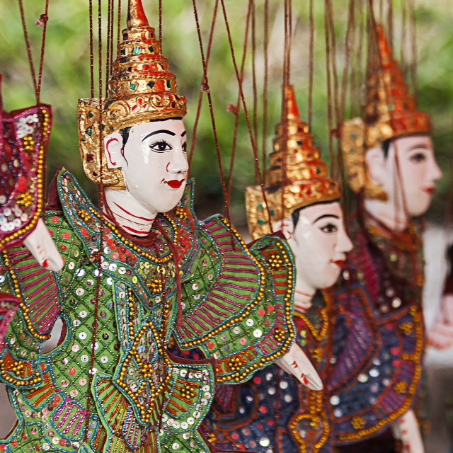"""Traditional Puppet, Laos"" stock image"