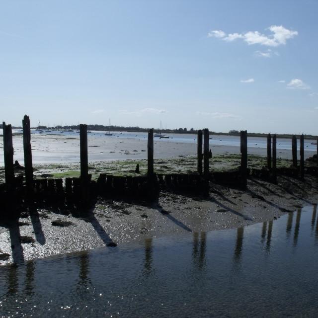 """""""Bosham, West Sussex harbour."""" stock image"""
