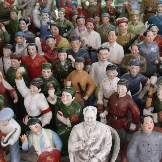 """""""Army of Chinese Ornaments in Hong Kong shop"""" stock image"""