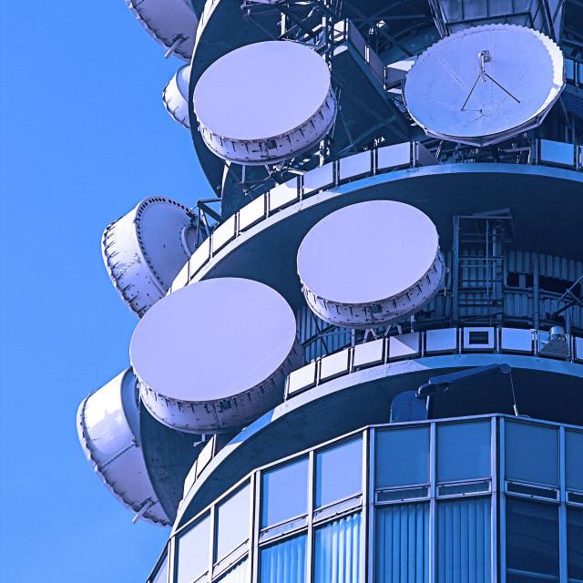"""""""Telecommunication Dishes"""" stock image"""