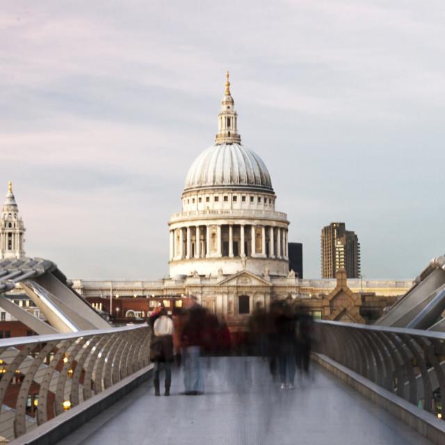 """Tourists On The Bridge"" stock image"