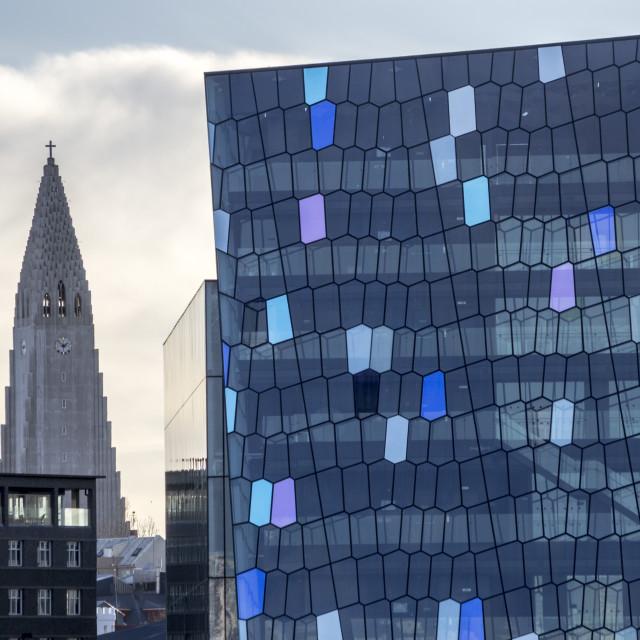 """""""Reykjavik landmarks"""" stock image"""