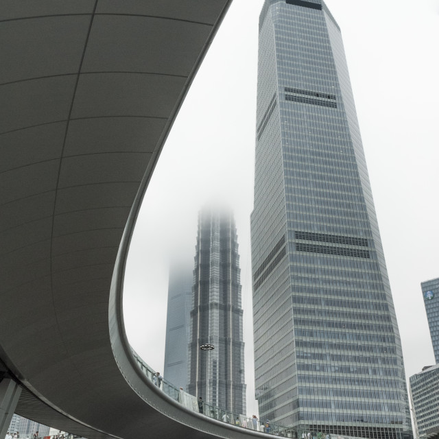 """Lujiazui flyover, Shanghai"" stock image"