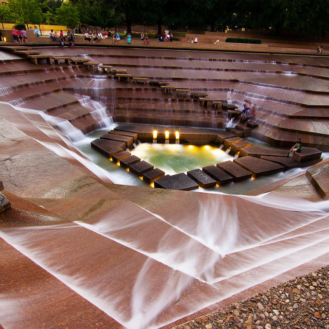 """Fort Worth Water Gardens"" stock image"