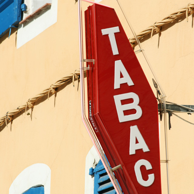 """French Tabac Sign"" stock image"