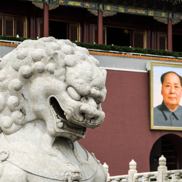 """Mao at the Front Gate"" stock image"