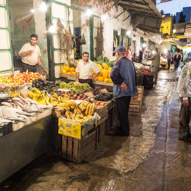 """""""Tetouan market"""" stock image"""