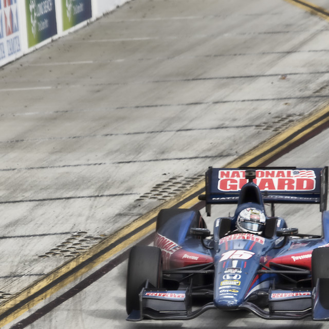"""Graham Rahal at Long Beach GP"" stock image"