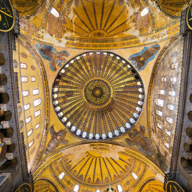 """""""Hagia Sophia Ceiling"""" stock image"""