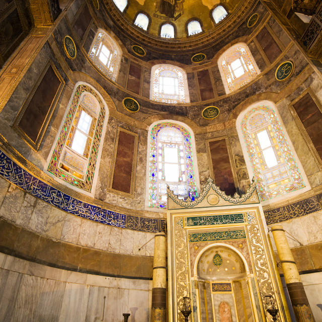 """Mihrab in the Hagia Sophia"" stock image"