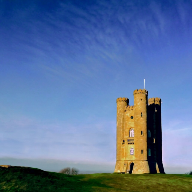 """Broadway Tower (#1 Colour)"" stock image"