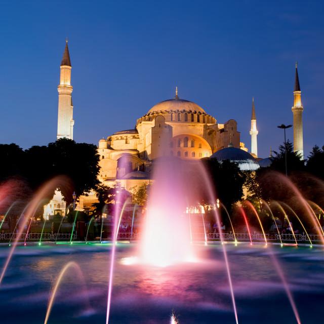 """Hagia Sophia at Night"" stock image"