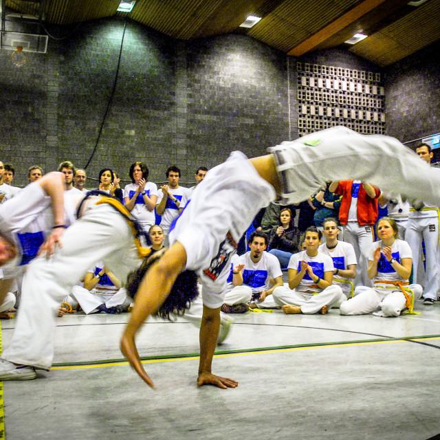 """""""Capoeiristas playing"""" stock image"""