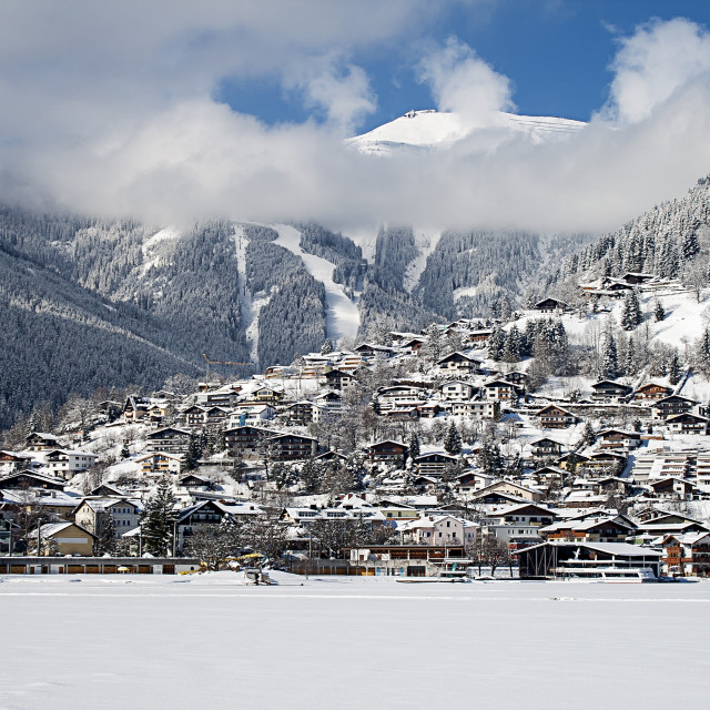 """Zell Am See In Winter"" stock image"