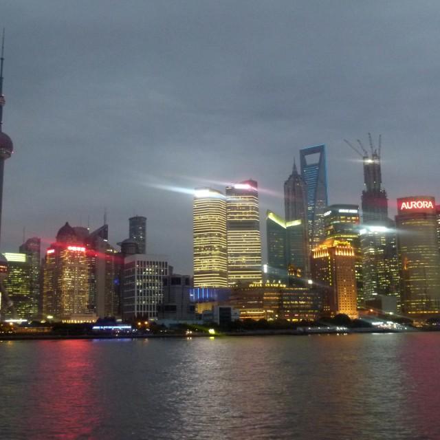"""Shanghai at night"" stock image"