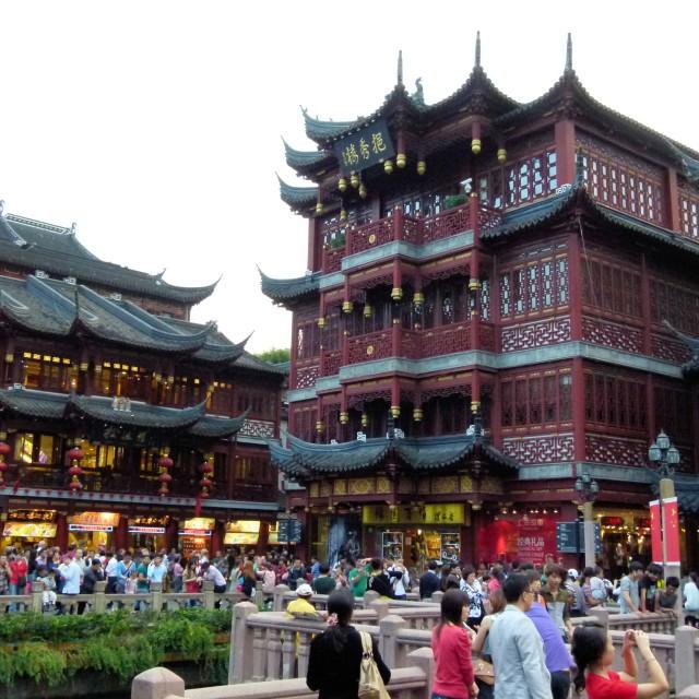 """Old Shanghai shops"" stock image"