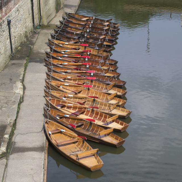 """Boats River Wear Durham"" stock image"