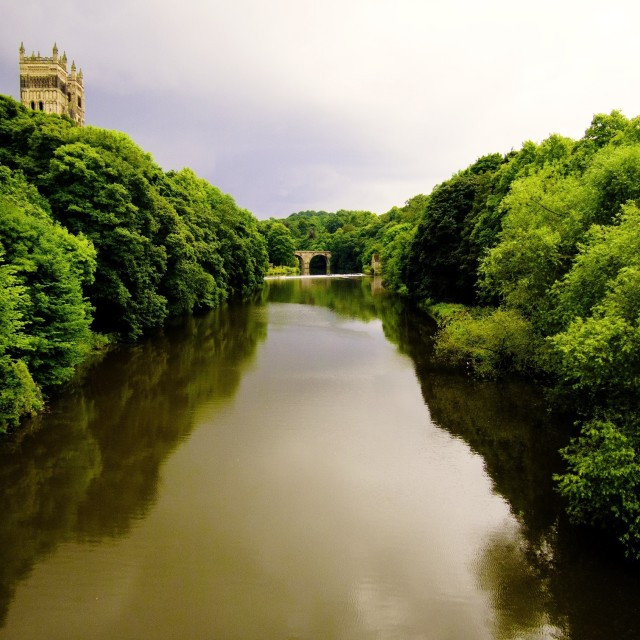 """River Wear Durham"" stock image"