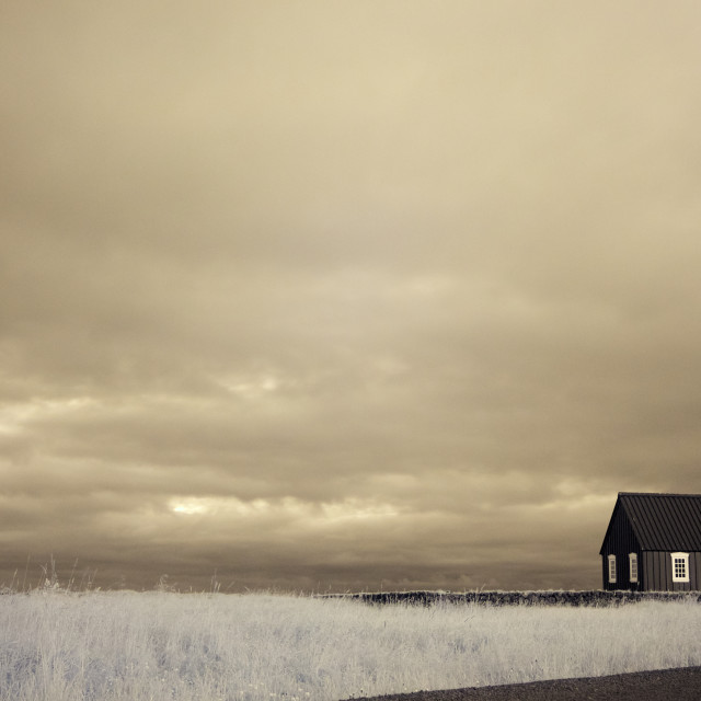 """Búðir Church"" stock image"