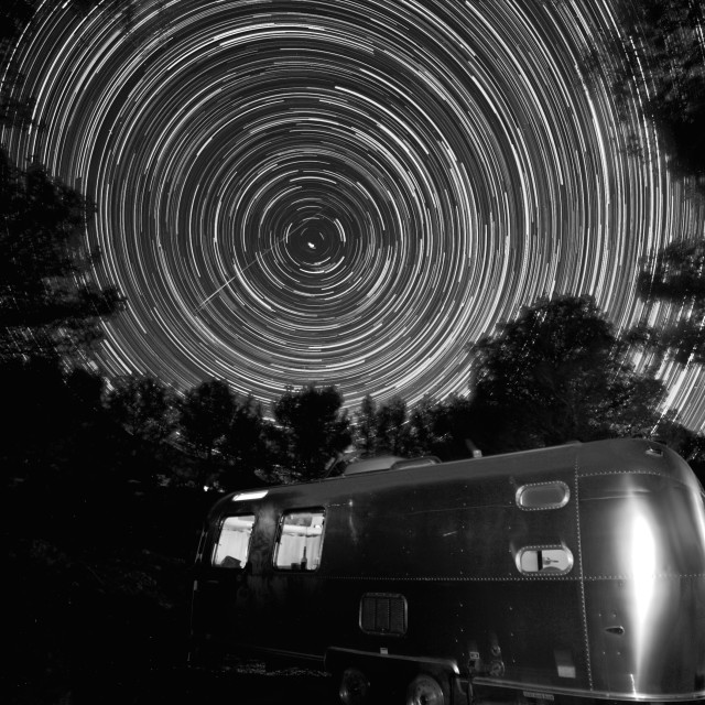 """""""Andalusia Star Trails"""" stock image"""