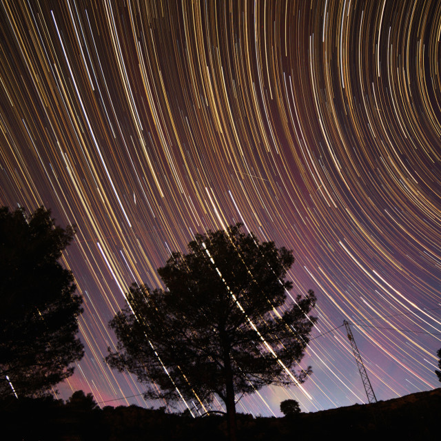 """Andalusia Star Trails"" stock image"
