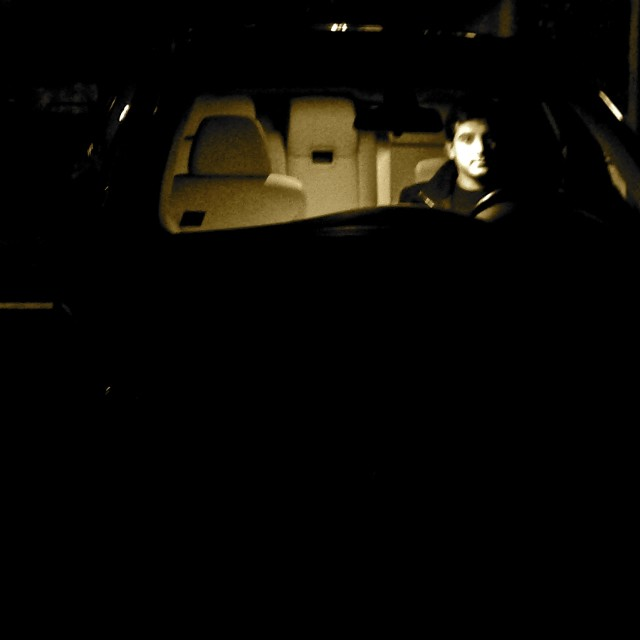 """A man & his car"" stock image"