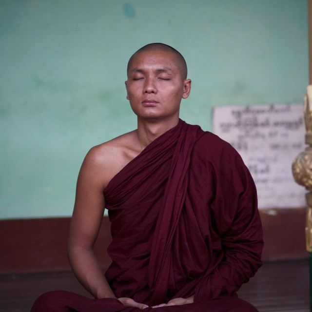 """Meditating Monk"" stock image"