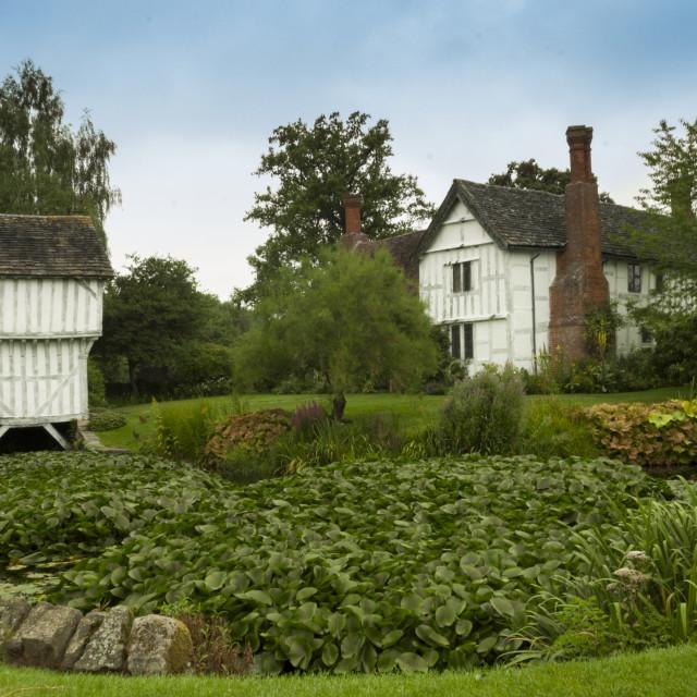 """The Brockhampton Estate Gate House"" stock image"